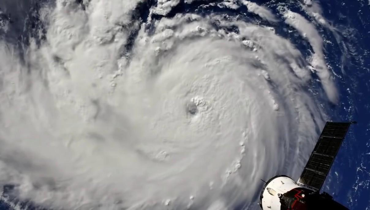 Registro do furacão Florence (Foto: Divulgação)