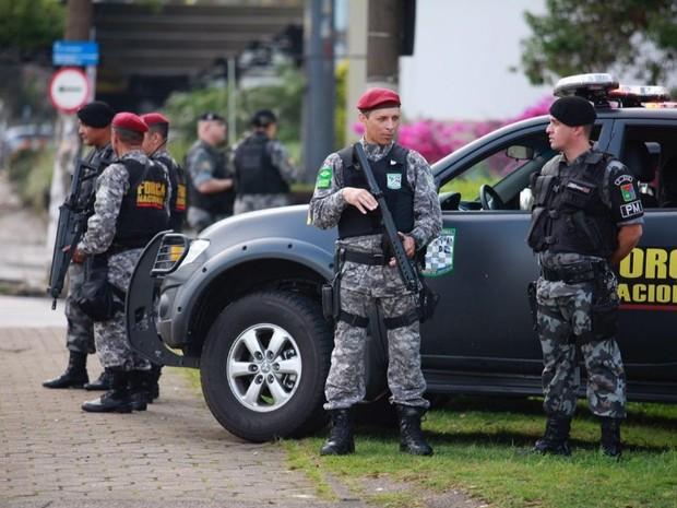 Brigada Militar, Força Nacional, Porto Alegre, ruas, policiamento, reforço (Foto: Robson Alves/BM)