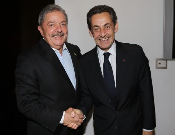 Lula e Nicolas Sarkozy (Foto: Ricardo Stuckert/Instituto Lula)