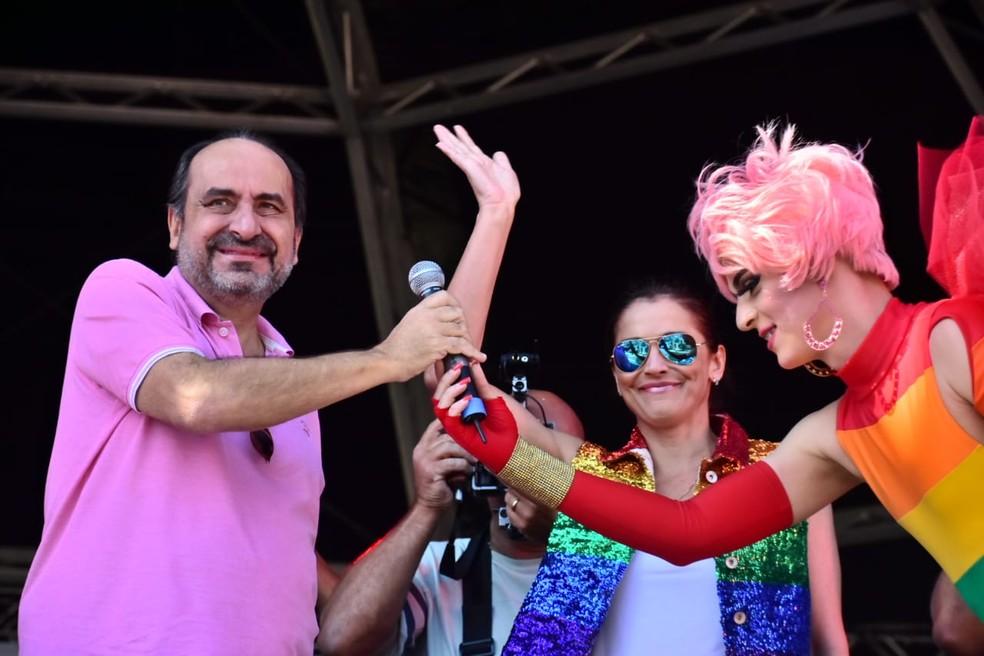 Kalil participou da Parada do Orgulho LGBT no último domingo — Foto: Antônio Salaverry/Arquivo pessoal
