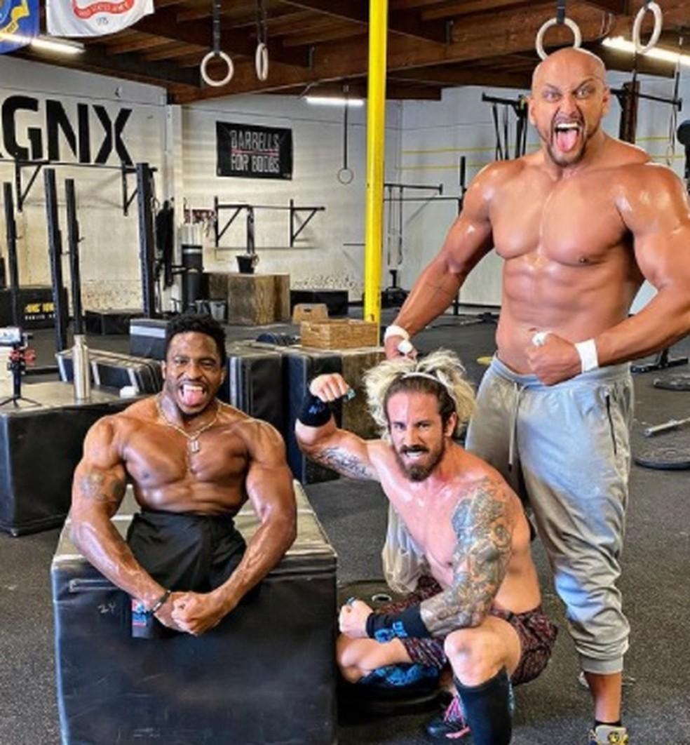 Zion Clark impressiona pela força física: ele participa de competições fitness nos EUA — Foto: Arquivo Pessoal