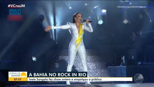 Ivete Sangalo se apresenta no Rock in Rio e agita público de mais de cem mil pessoas