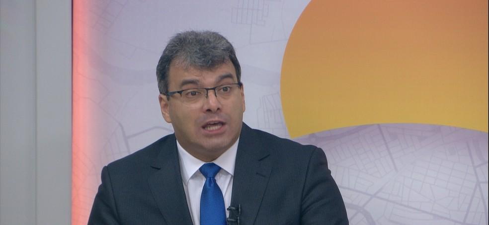 Juiz-corregedor dos presídios de Cuiabá, Geraldo Fernandes Fidelis Neto — Foto: TV Centro América