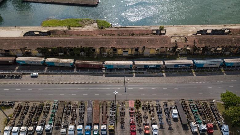 Greve dos caminhoneiros - Porto de Santos (Foto: Fellipe Abreu)