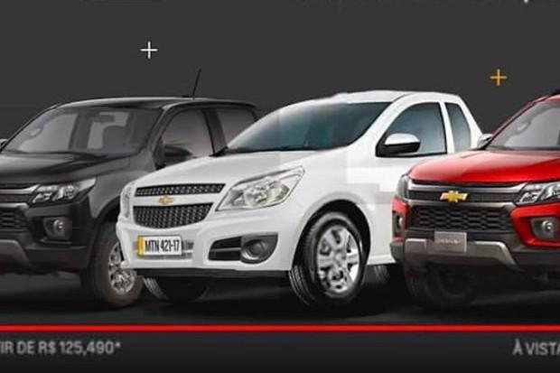 A Chevrolet acabou fazendo uma mostra oficial do novo estilo da S10  (Foto: Divulgação)