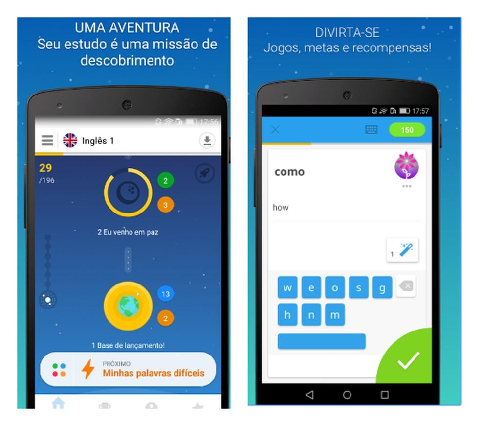 Com o Memrise, também é possível praticar a tradução de palavras do inglês para o português (Foto: Divulgação/Play Store)