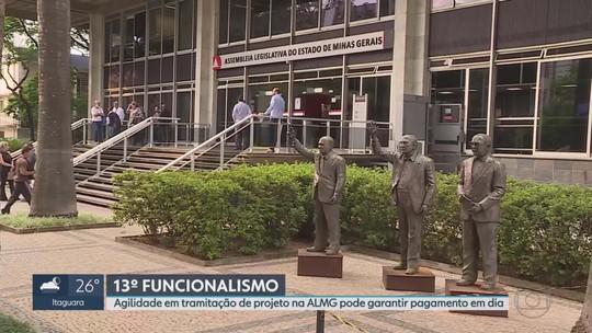 Deputados vão agilizar projeto que deve permitir pagamento do 13° salário do funcionalismo de MG