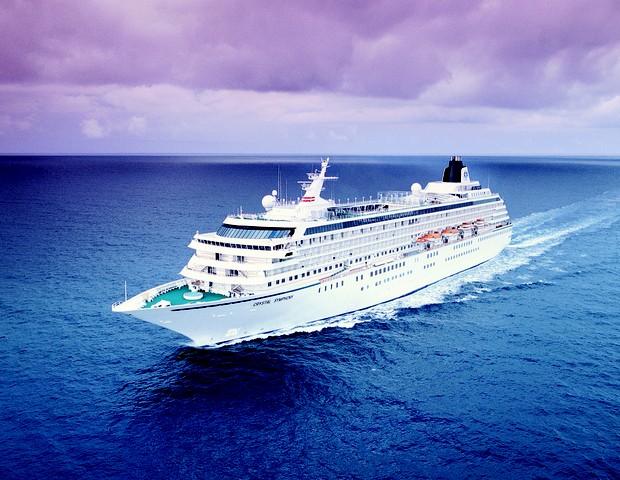 Navio da Crystal em que o Cousteau viajará a bordo (Foto: reprodução)