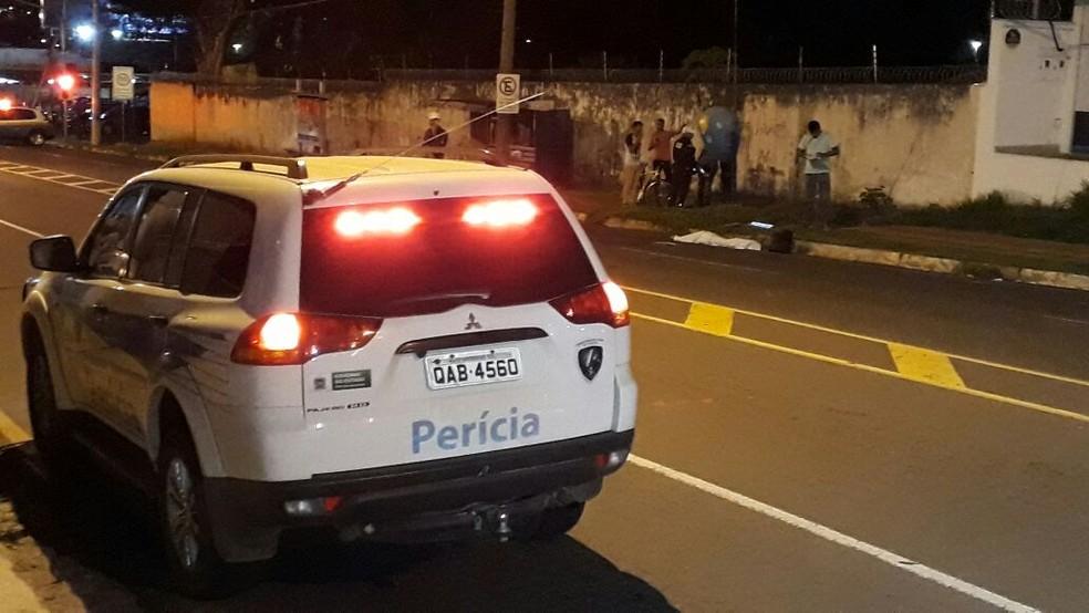 Vítima foi lançada a 55 metros de distância do ponto de impacto em MS — Foto: José Aparecido/ TV Morena