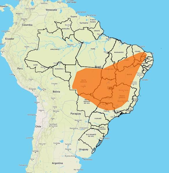 Inmet divulga alerta de baixa umidade para regiões de MG com riscos de incêndios florestais e à saúde