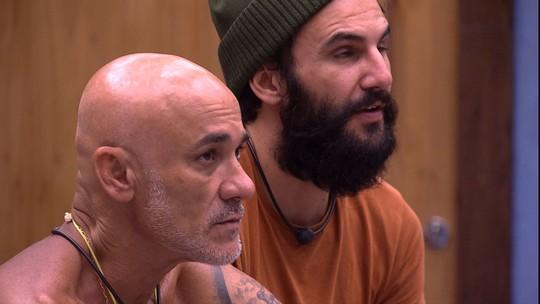 Ayrton afirma para Wagner que Diego não votará no brother