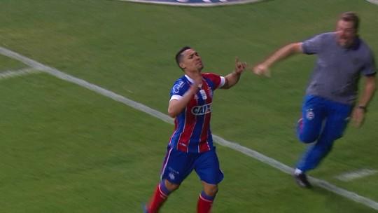 Edigar Junio marca de letra e garante vitória do Bahia; veja o golaço