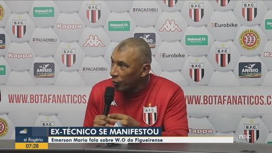 Ex-técnico do Figueirense, Hemerson Maria se solidariza com elenco após W.O.