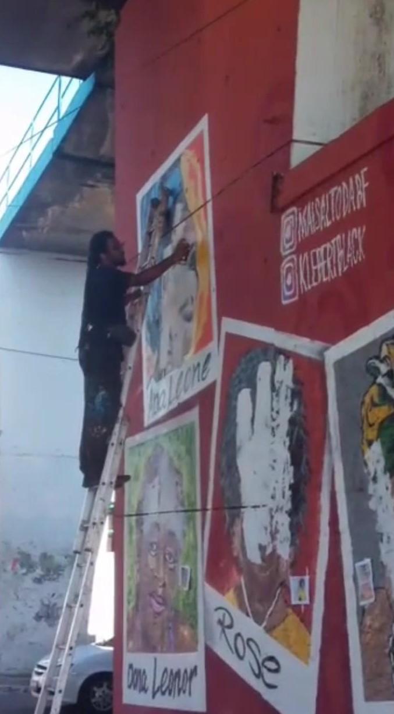 Mural vandalizado e dedicado às mulheres negras é restaurado no RJ