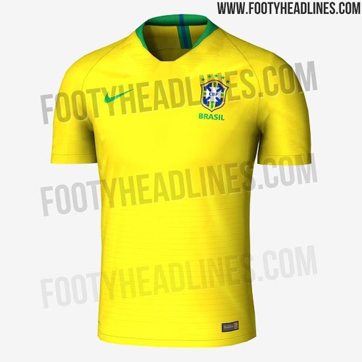 Site vaza suposta camisa que a seleção brasileira usará na Copa do Mundo   veja  f6852604c0e20