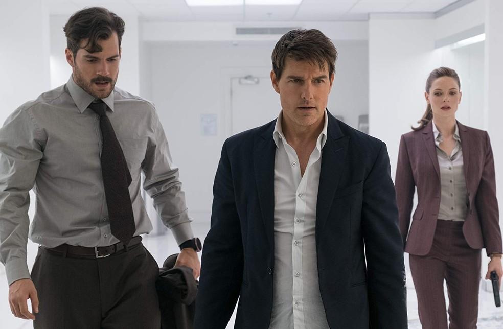 Henry Cavill, Tom Cruise e Rebecca Ferguson em cena de 'Missão: Impossível - Efeito fallout — Foto: Divulgação