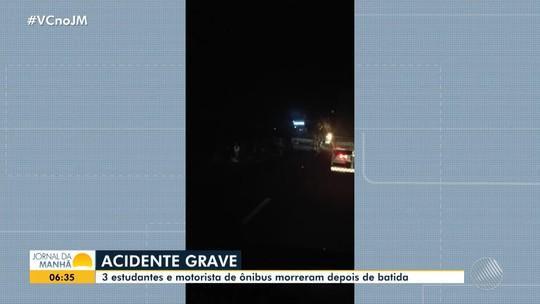 Acidente com ônibus que transportava estudantes deixa mortos no sudoeste da Bahia