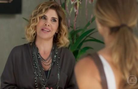 Na terça-feira (1),Eugênia (Helena Fernandes) descobrirá que Paloma é mãe de Gabriela (Giovanna Coimbra) e ficará furiosa TV Globo