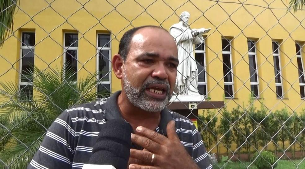 Pai de jovem morta com 11 tiros, em Campinas — Foto: Reprodução / EPTV