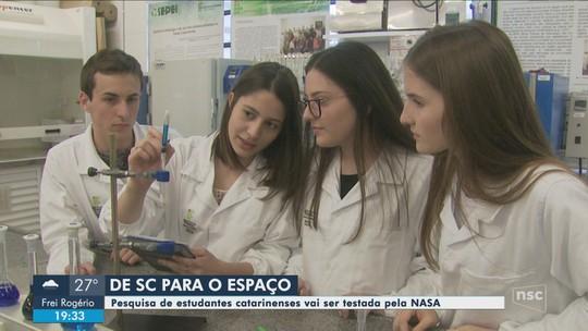 Alunos de Xanxerê fazem experimento que será testado no espaço por astronautas da Nasa