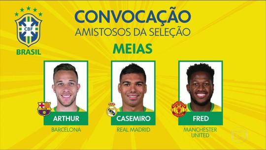 Tite anuncia os convocados para os próximos amistosos da Seleção