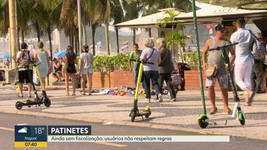 Empresa de patinetes limita velocidade para 'novatos' no Rio