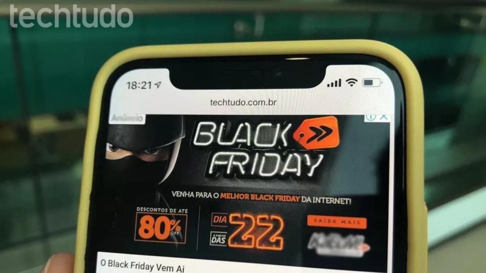 Lojas de diversos tamanhos e segmentos oferecem promoções na Black Friday — Foto: Nicolly Vimercate/TechTudo