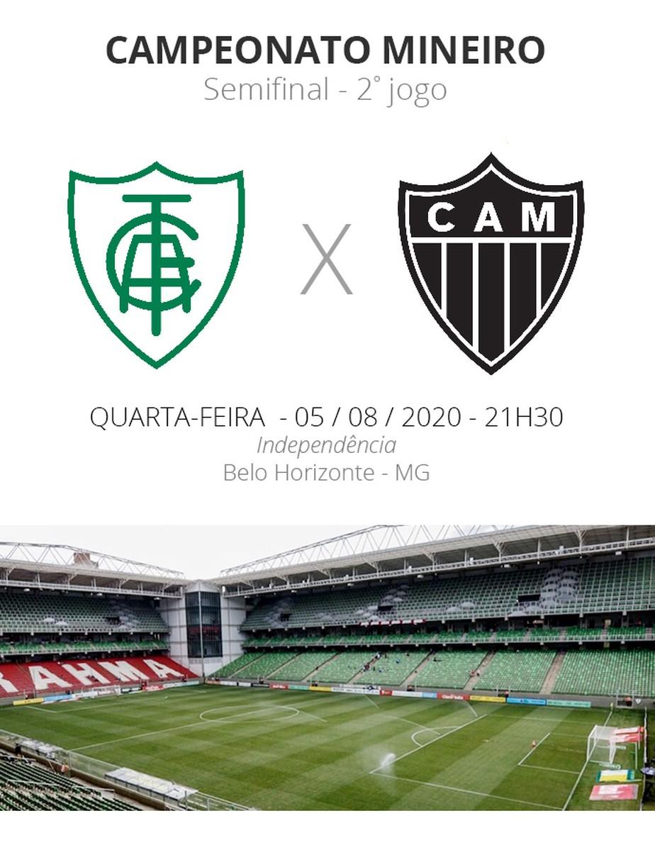 America Mg X Atletico Mg Veja Onde Assistir Escalacoes Desfalques E Arbitragem Campeonato Mineiro Ge