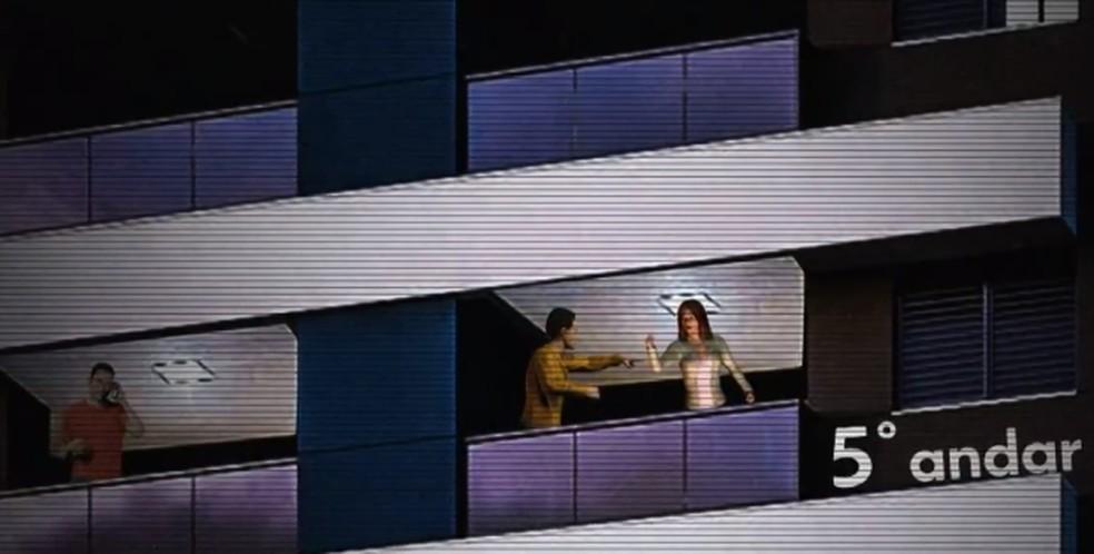 Médica caiu do 5° andar de um prédio em Salvador — Foto: Reprodução/TV Bahia