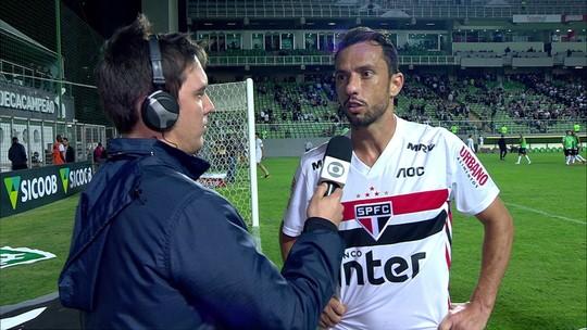 Nenê entende que São Paulo terá um período de tranquilidade após empate com Atlético-MG