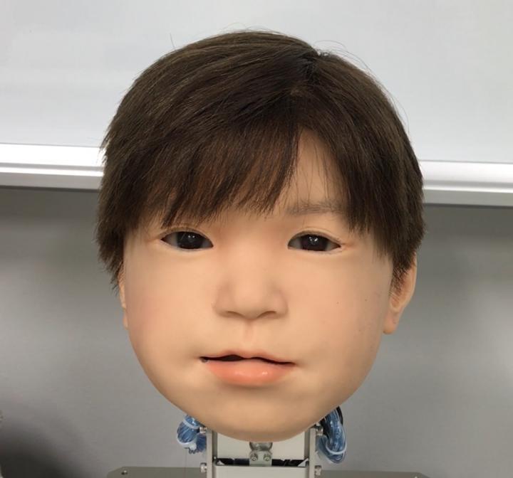 Affetto é uma criança robô muito expressiva (Foto: Reprodução Osaka University)