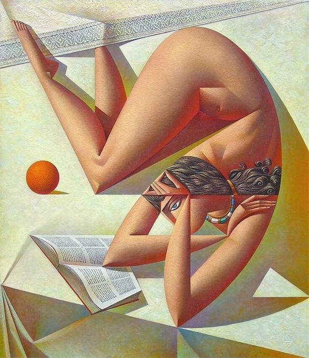Woman Reading Book with Orange, do artista russo Georgy Kurasov (Foto: Reprodução)
