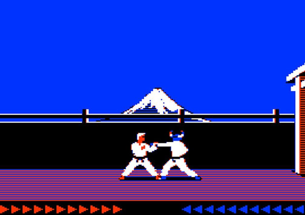 'Karateka', que na imagem aparece em sua versão antiga para PCs, receberá um remake — Foto: Divulgação