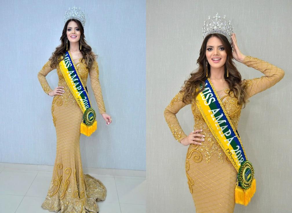 -  Williene Lima, representante do município de Santana, foi eleita a Miss Amapá 2018  Foto: Reprodução/Facebook