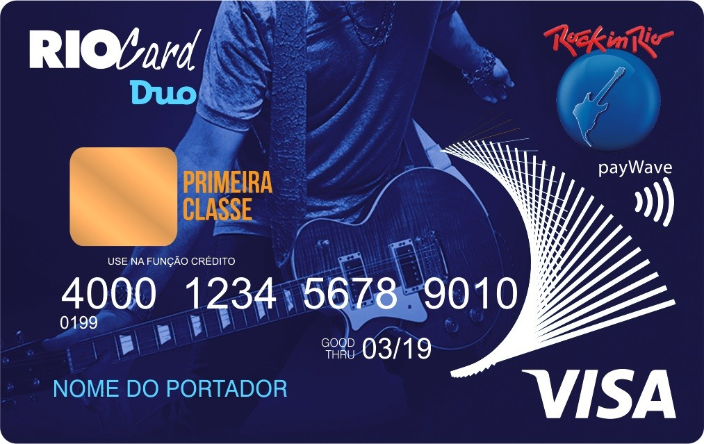 Cartão de ônibus e compras do Rock in Rio