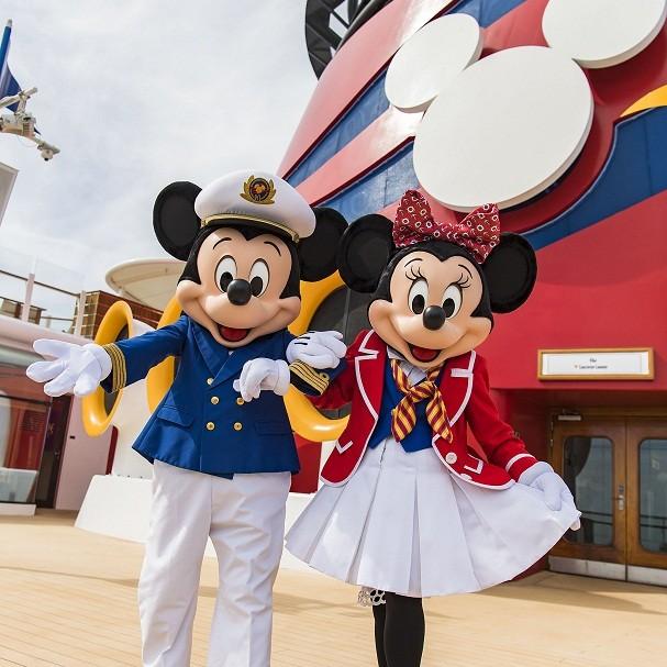 Mickey e Minnie, no cruzeiro da Disney (Foto: Divulgação/Disney)