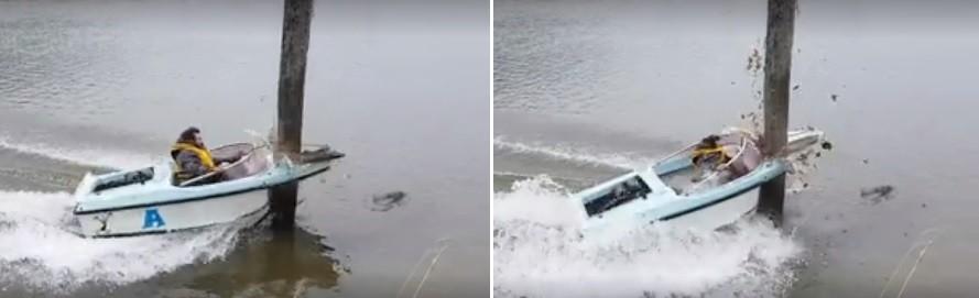 O acidente espetacular em rio neozelandês