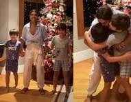 """Juliana Paes reencontra os filhos após Maldivas: """"Amor demais""""; vídeo"""