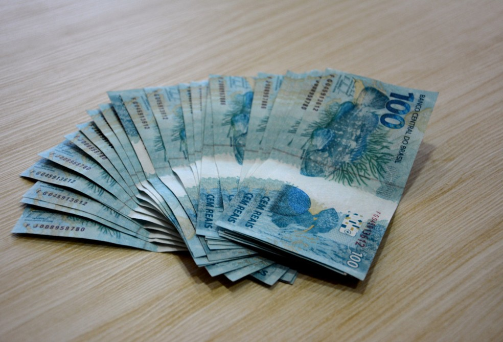Dinheiro falso foi apreendido por policiais em Limoeiro, no Agreste de Pernambuco — Foto: Polícia Federal/Divulgação