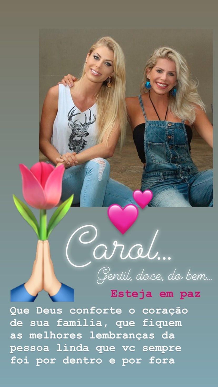 Karina Bacchi e Carol Bittencourt (Foto: Reprodução/Instagram)