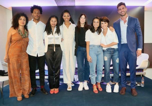 Turma boa participa de talk sobre trabalho escravo na moda (Foto: Brazil News)