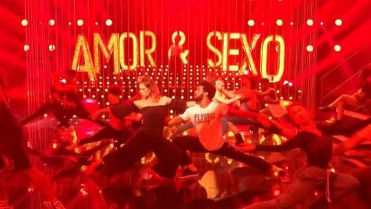 Fernanda Lima mostra ensaios nas gravações do 'Amor & Sexo'