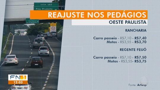 Moradores de Presidente Bernardes fazem protesto em pedágio da Rodovia Raposo Tavares