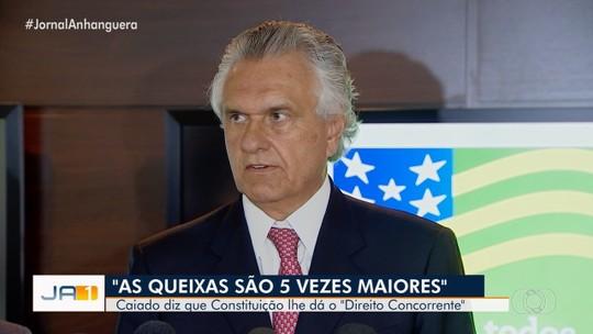 Ronaldo Caiado cita a Constituição para dizer que pode romper com a Enel