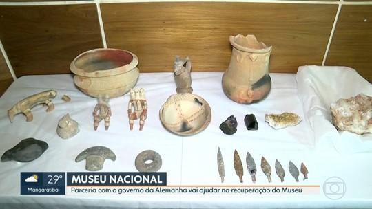 Museu Nacional recebe doação de 180 mil euros da Alemanha e apresenta  peças recuperadas após incêndio