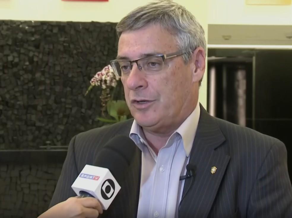 Coronel Marcos Marinho, presidente da Comissão de Arbitragem da CBF (Foto: Reprodução SporTV)