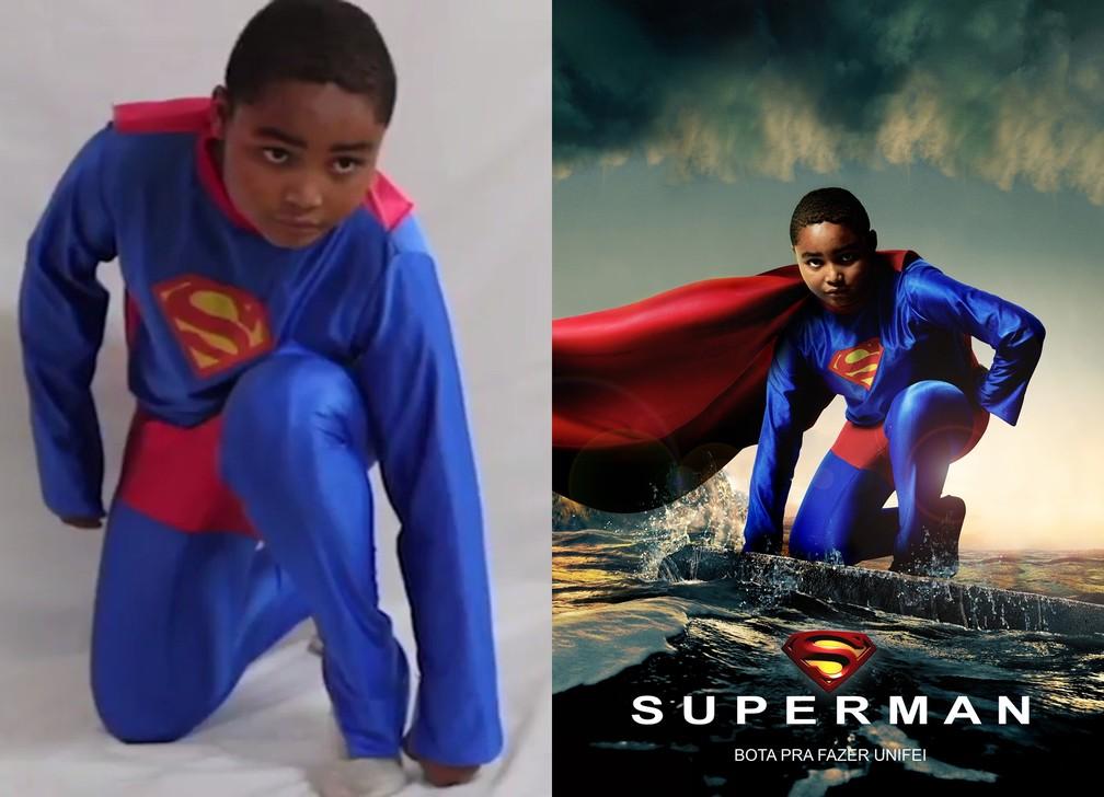 Crianças posam como personagens de quadrinhos (Foto: Murilo Buscariolo/Cleber Gonçalves/Leonardo Santos/Happyxel)