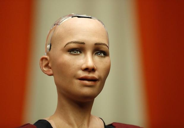 A robô Sophia (Foto: Getty Images)