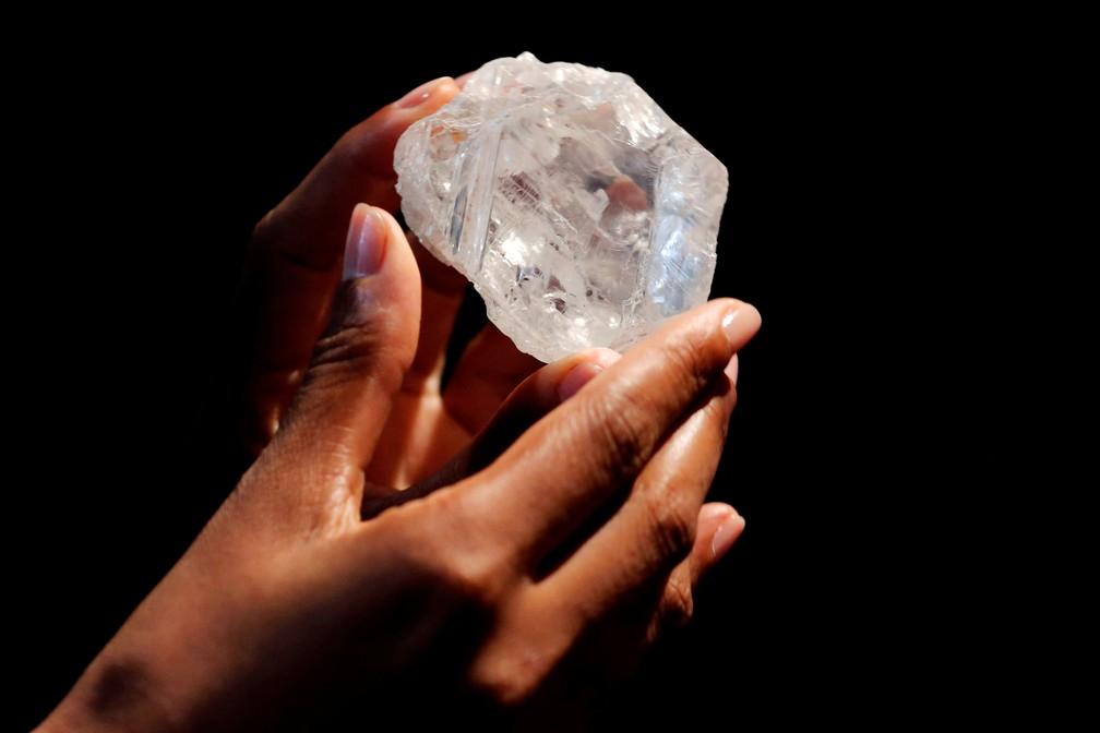 Pedra de diamante de 1.109 quilates, vendida por US$ 53 milhões (Foto: Reuters/Lucas Jackson/Arquivo)