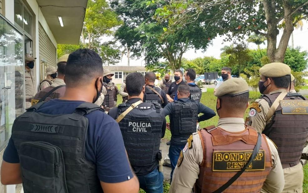 Líder de organização criminosa é preso em operação policial no Recôncavo Baiano. Na ação, um homem foi morto e outros três foram presos. — Foto: Divulgação / Secretaria de Segurança Pública da Bahia (SSP-BA)